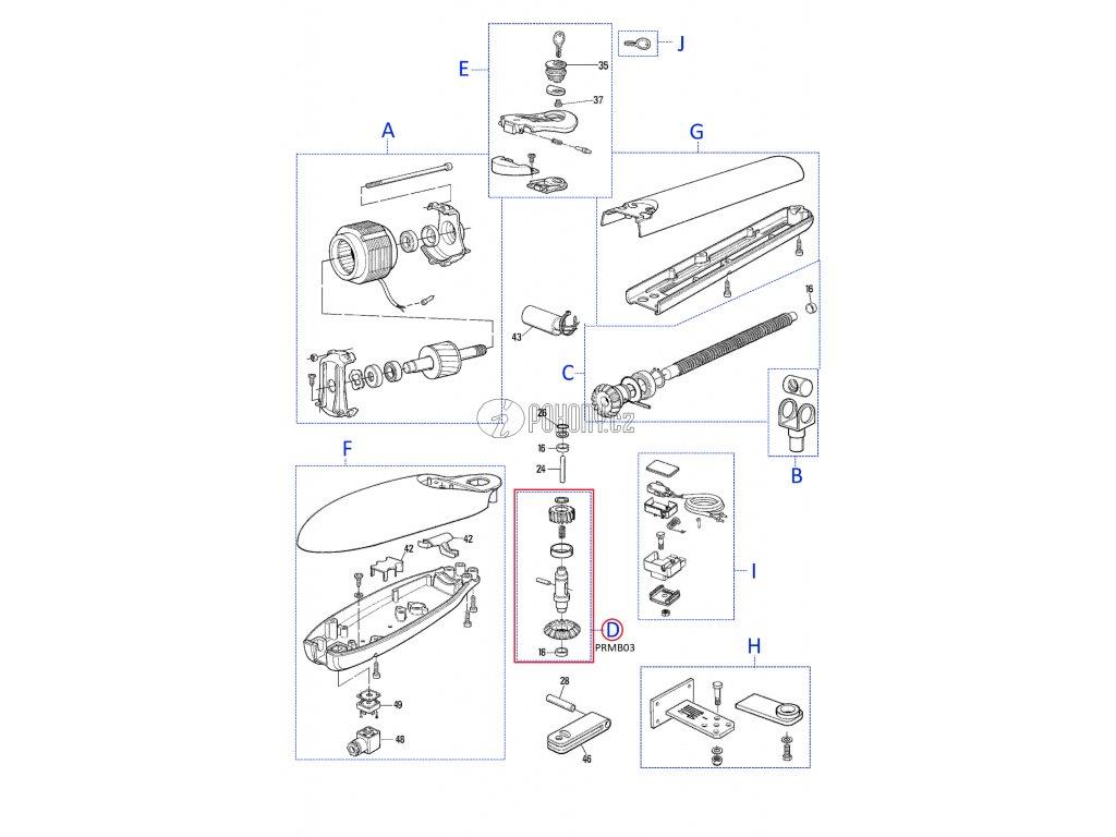 Kit převodovky pro MOBY4005, 4006, 5015, 5016 - PRMB03