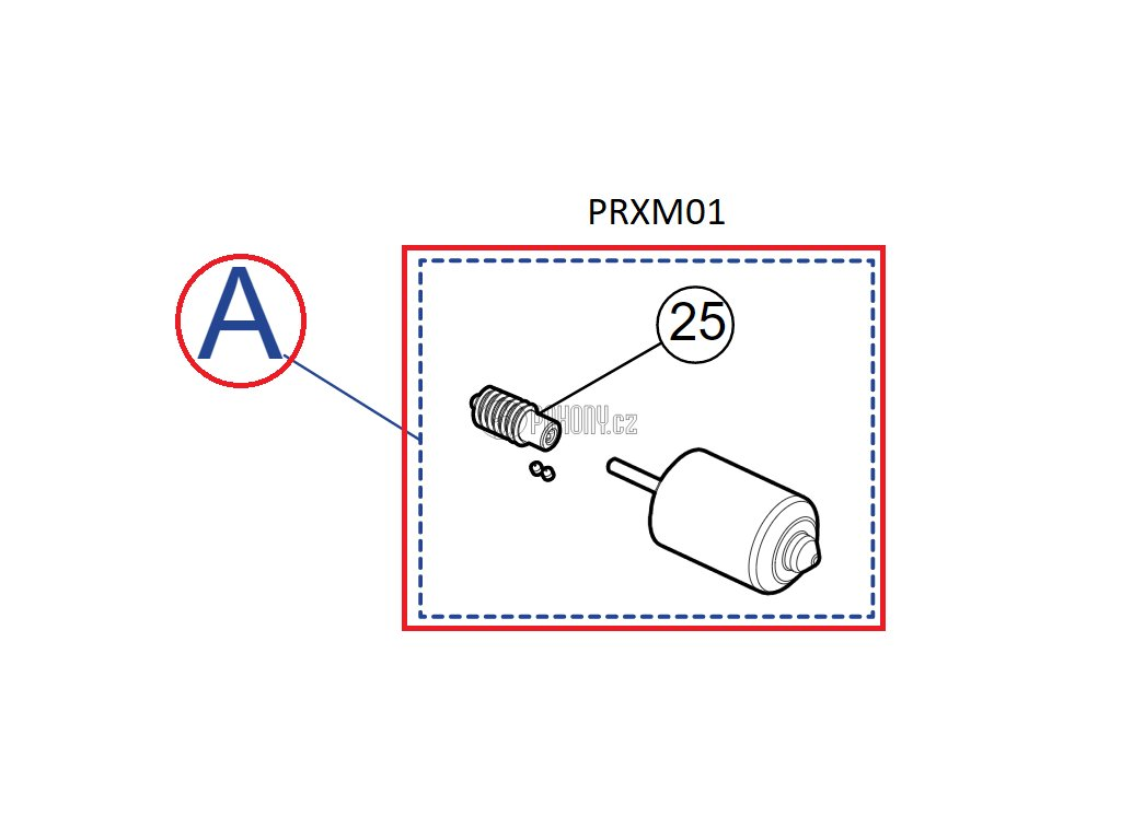 Sada motorku pro pohon XMETRO - PRXM01