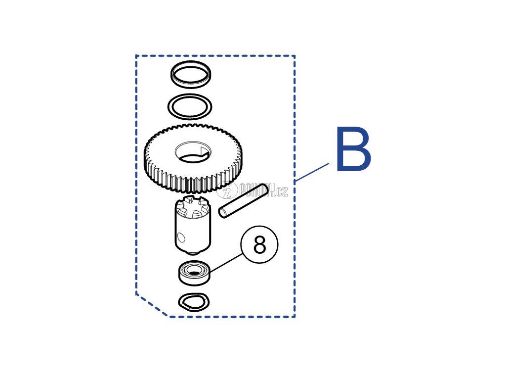Kit ozubených koleček pro pohony XMETRO - PRXM02
