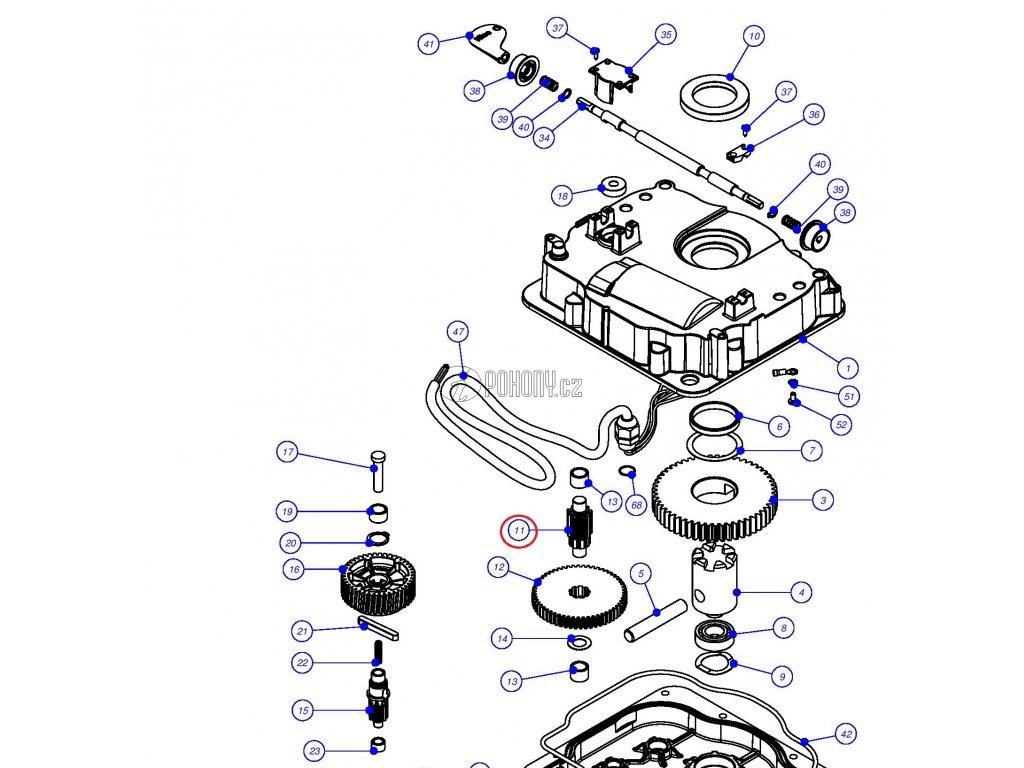 Ozubená hřídel pro pohony XMETRO - PRXM08