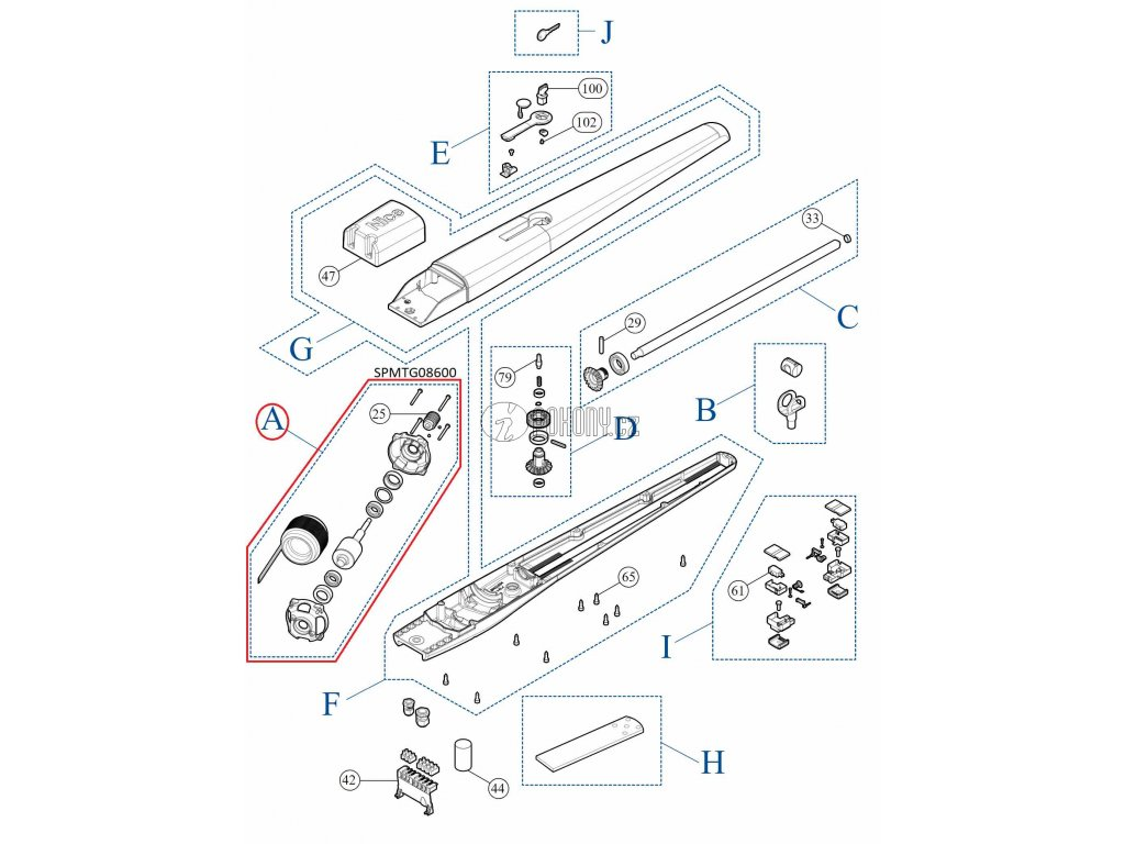 Kit převodovky pro TOONA4 / TOONA5 - SPMTG08600