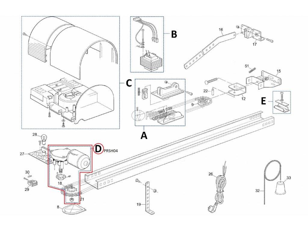 Kit motoru pro pohony SHEL - PRSH04