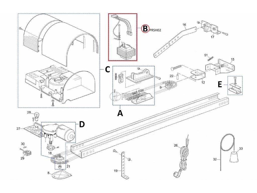 Kit transformátoru pro SHEL50 a SPIN11 - PRSH02