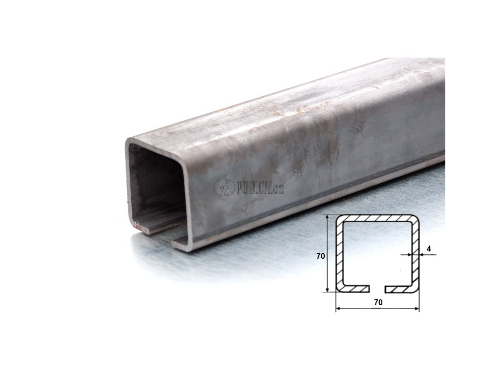 C70x70mm ZN - zinkovaný nosný c profil samonosné posuvné brány - délka 6m