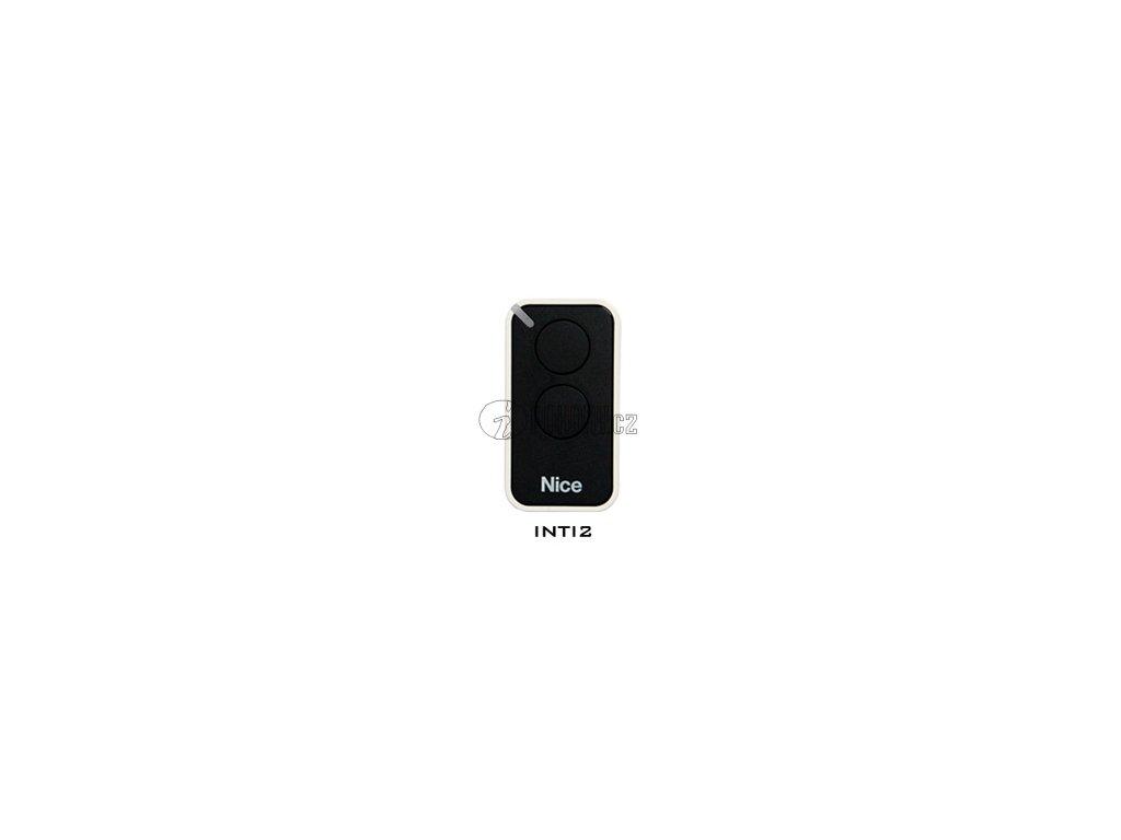 Dálkový ovladač NICE INTI2, plovoucí kód, 2-kanálový, 433 MHz, černý