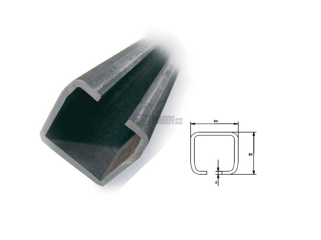 C94x85mm ZN - nosný c profil samonosné posuvné brány - délka 3m