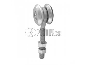 Jednoduchá závěsná kladka pro dráhu 57x67mm - zinkovaná