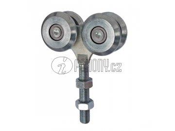 Dvojitá závěsná kladka pro dráhu 57x67mm - zinkovaná
