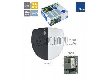 NICE SN6031/A - Samostatný pohon pro sekční vrata do 9m2, 24V, 250W, 800N