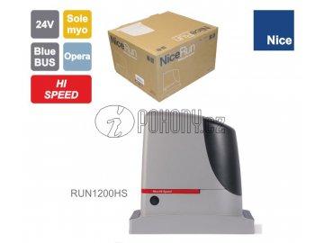 NICE RUN1200 HI-SPEED rychlý pohon pro posuvnou bránu do 1200 kg