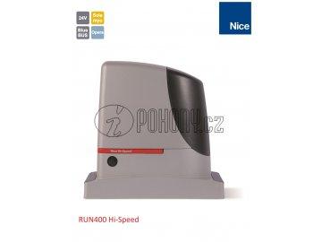 NICE RUN400 HI-SPEED 24V rychlý pohon pro posuvnou bránu do 400 kg