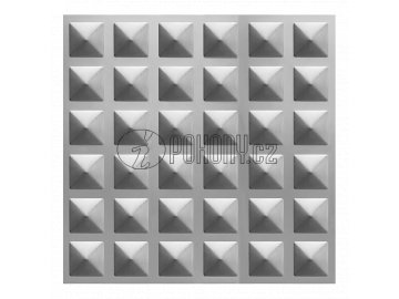 Černý lisovaný plech 2000 x 1000 x 1,2 mm s 3D efektem čtverec