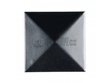 Ocelová čtvercová krytka na sloupek 40x40mm
