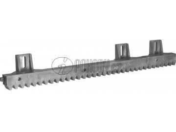 HR100 - ozubený hřeben s ocelovým jádrem a nylonovým povlakem s úchyty směrem nahoru
