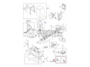 Sada mechanických dorazů pro posuvné brány, pravý + levý - SPGAP10600 kit (PMD0885.4610, PMD0886.4610)