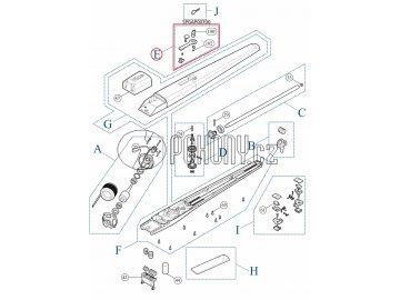 Odblokovací mechanismus zámku TOONA - SPGAP00700