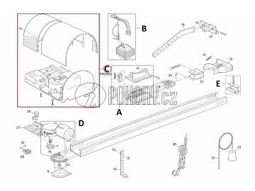 Sada krytů a základové desky motorku pro SHEL - PRSH03