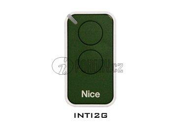Dálkový ovladač NICE INTI2, plovoucí kód, 2-kanálový, 433 MHz, zelený