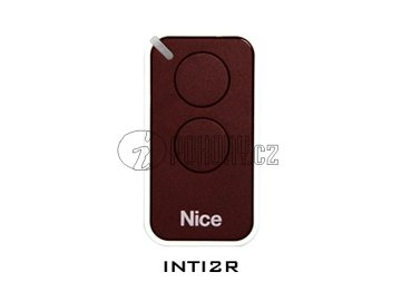 Dálkový ovladač NICE INTI2, plovoucí kód, 2-kanálový, 433 MHz, červený