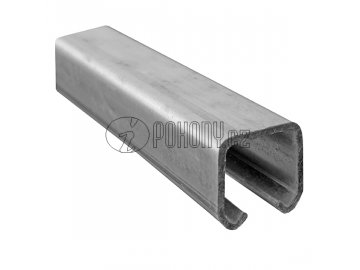 Závěsná dráha 42x54mm pro závěsná vrata - zinkovaná - délka 3m