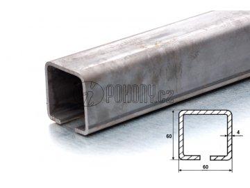 C60x60mm ZN - nosný zinkovaný c profil samonosné posuvné brány - délka 3m