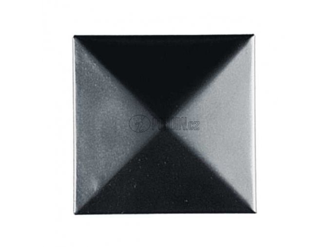 Ocelová čtvercová krytka na sloupek 80x80mm