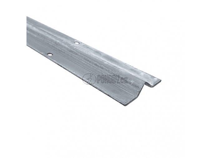 Pojezdová dráha - vodící profil s V drážkou, zinkovaná - délka 6m