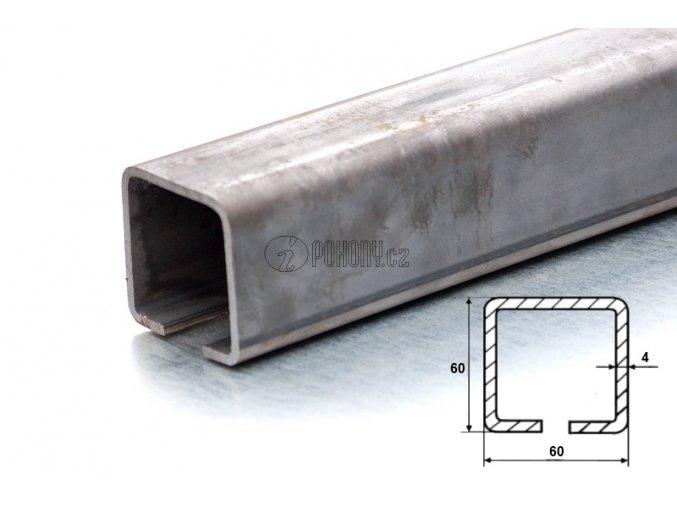 C60x60mm - nosný c profil samonosné posuvné brány - délka 6m