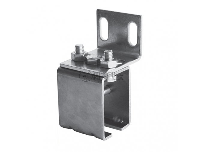 Boční držák závěsné dráhy 33x34mm - zinkovaný