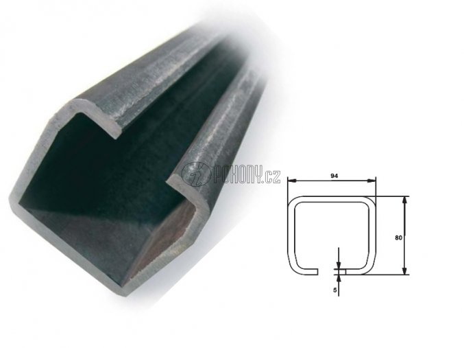 C94x85mm - nosný c profil samonosné posuvné brány - délka 6m