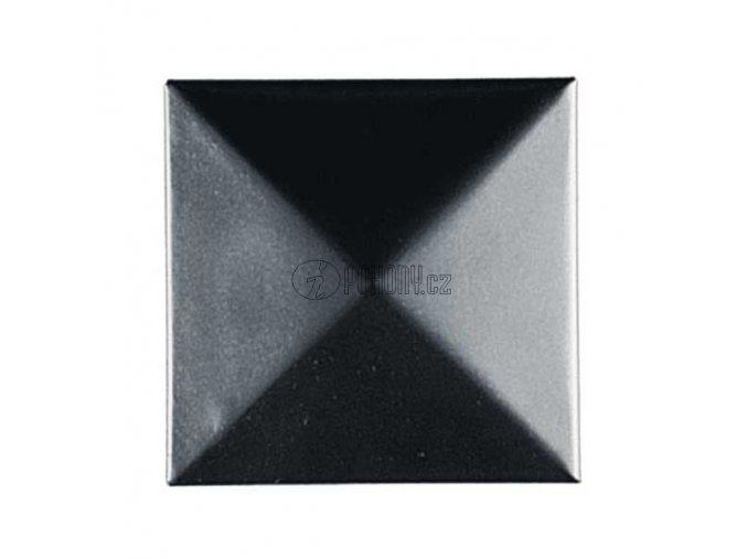 Ocelová čtvercová krytka na sloupek 120x120mm