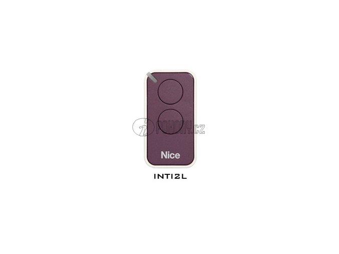 Dálkový ovladač NICE INTI2, plovoucí kód, 2-kanálový, 433 MHz, fialový