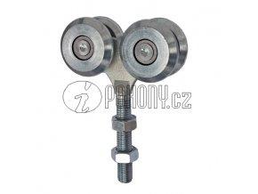 Dvojitá závěsná kladka pro dráhu 42x54mm - zinkovaná