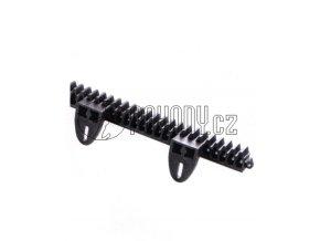 LO5 - ozubený nylonový hřeben se stavitelnými úchytkami nahoru nebo dolů