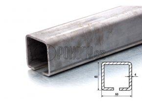 C60x60mm ZN - nosný zinkovaný c profil samonosné posuvné brány - délka 6m