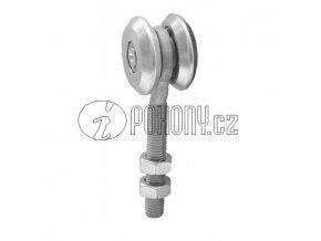 Jednoduchá závěsná kladka pro dráhu 33x34mm - zinkovaná
