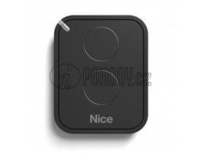 Dálkový ovladač NICE FLO2RE, plovoucí kód, 2-kanálový 433 MHz, náhrada FLO2R-S