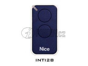 Dálkový ovladač NICE INTI2, plovoucí kód, 2-kanálový, 433 MHz, modrý