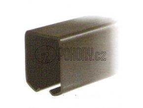 Závěsná dráha 42x54mm pro závěsná vrata - FE bez povrchové úpravy - délka 3m