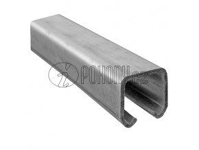 Závěsná dráha 33x34mm pro závěsná vrata - zinkovaná - délka 3m
