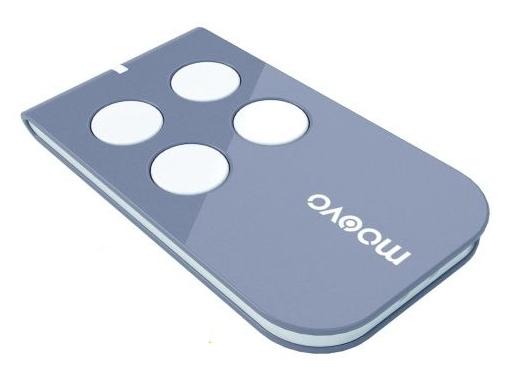 MOOVO MT4 - dálkový ovladač, plovoucí kód, 4-kanálový, 433 MHz, šedý