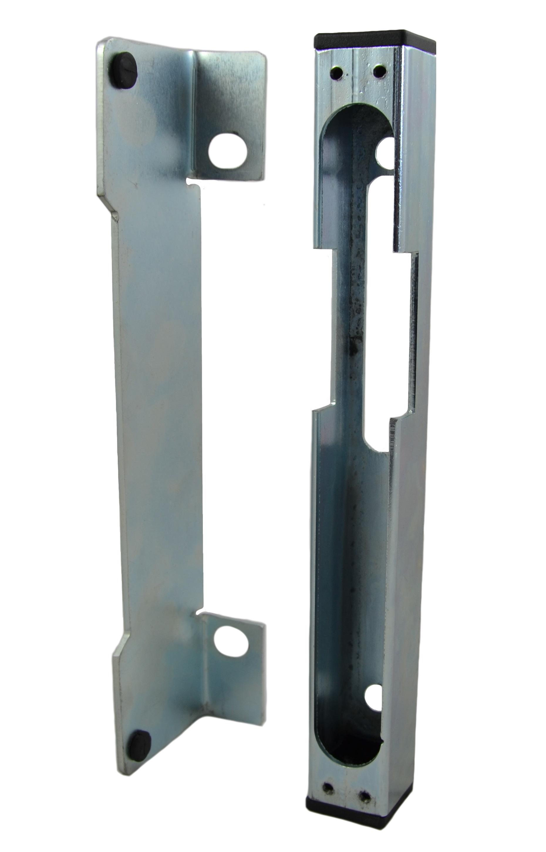 Celozinkovaný univerzální doraz branky 30x30x260mm pro elektrický zámek