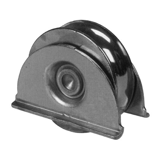 Pojezdové kolečko s podpěrou s U drážkou pro kolejnicové brány - H/49U/80