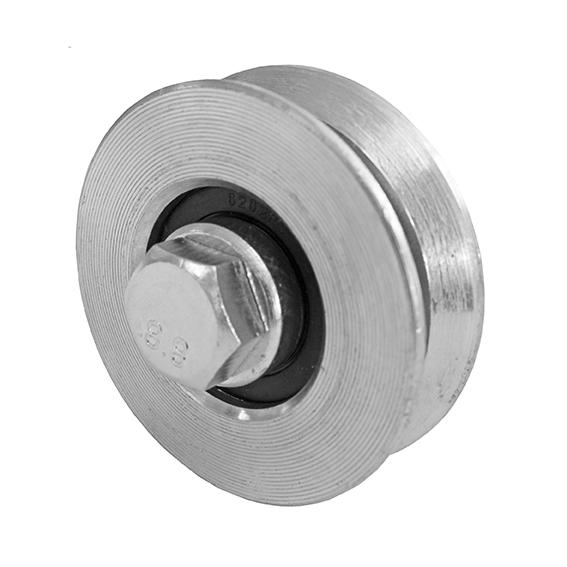 Pojezdová kladka 60mm se šroubem a s V drážkou pro kolejnicové brány - H/06V/60