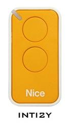 Dálkový ovladač NICE INTI2, plovoucí kód, 2-kanálový, 433 MHz, žlutý