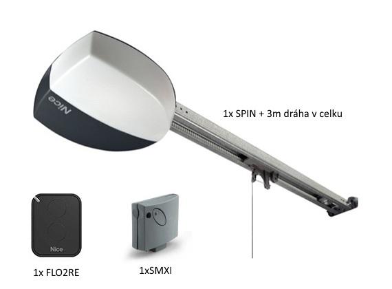 NICE SPIN21KCE - stropní pohon pro garážová vrata - dráha 3m