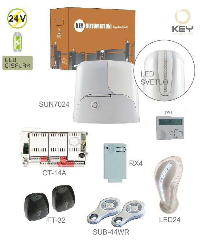 KEY KIT-SUN7024 - sestava pohonu SUN7024 pro posuvnou bránu do 700kg