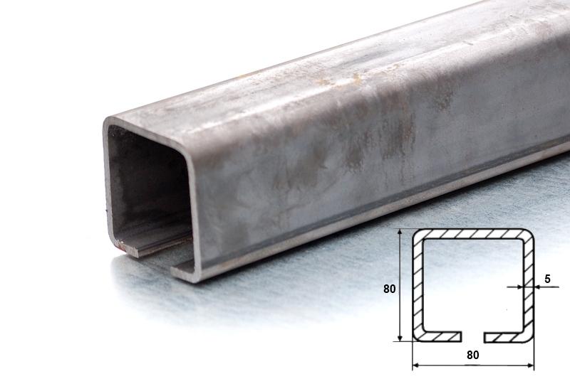 C80x80mm ZN - zinkovaný nosný c profil samonosné posuvné brány - délka 3m