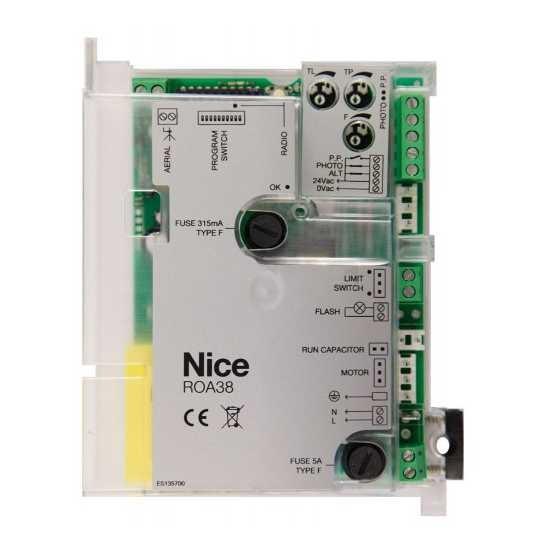 NICE ROA38 - řídící jednotka pro pohon ROX600