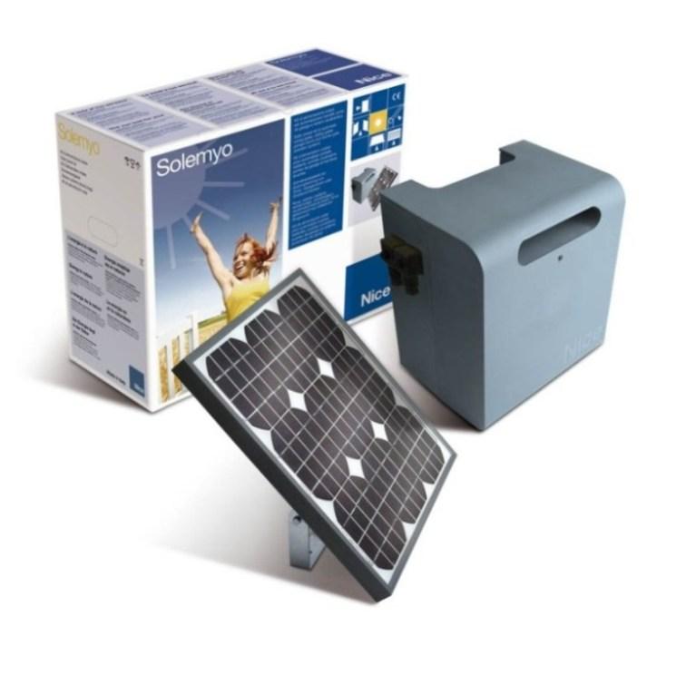 NICE Solemyo - sestava solárního napájení pro pohony a závory
